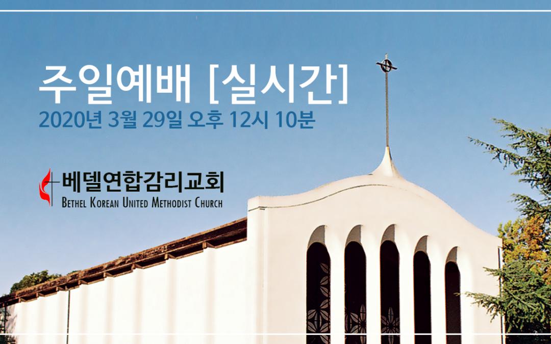 온라인 주일예배 안내 – 실시간 방송